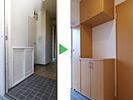 左:施工前・右:新しくした玄関収納
