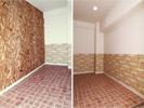 玄関右側は物置や作業場として使える土間風スペース。
